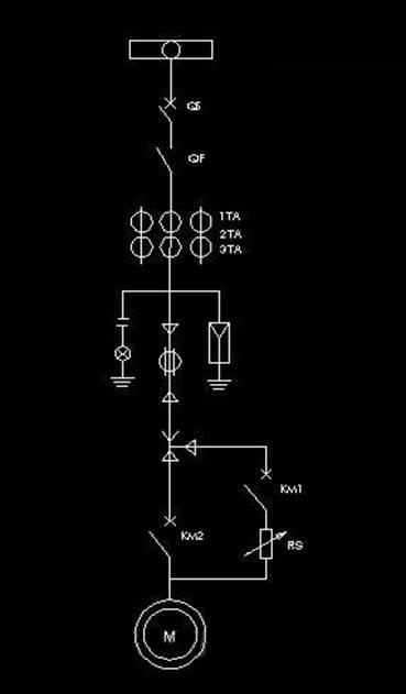 回路至水阻柜接线端子;